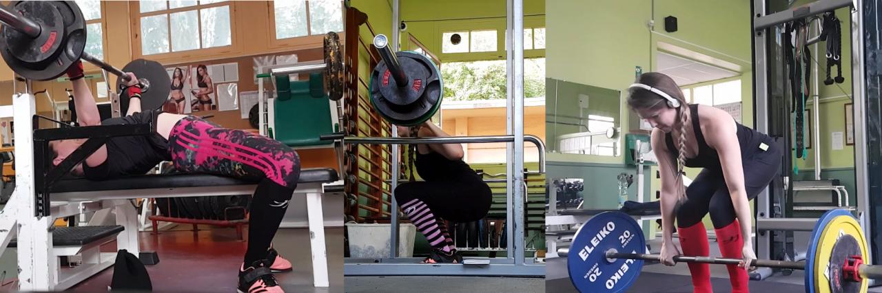 Force athlétique powerlifting femme